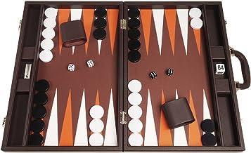48cm Premium Backgammon Set - Dark Brown Board