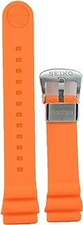 Compatible 22MM Orange Rubber Dive Strap for Seiko Model Series SRP773, 775, 777, 779