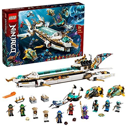 LEGO 71756 Ninjago Wassersegler, U-Boot Spielzeug für Jungen und Mädchen ab 9 Jahre, Set mit 10 Ninja Mini Figuren