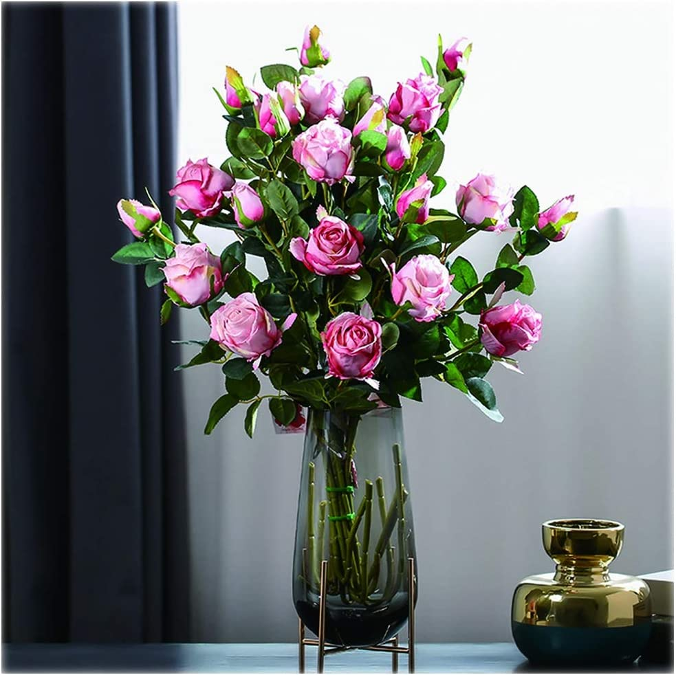 Attention brand Liudan Artificial Flowers Rose Max 76% OFF Hea 12 Bouquet