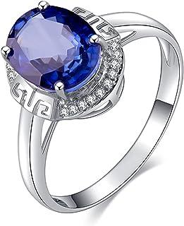 خاتم خطوبة من الألماس الأزرق الفاخر من جي إم إم دي إس فاشون