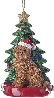 Kurt Adler Goldendoodle With Christmas Tree Ornament