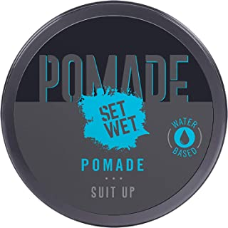 Set Wet Pomade Hair Wax 60, Perfect Slick & Shiny Wet Look, Strong Hold, Water Based, Easy wash off, No Paraben, No Sulpha...