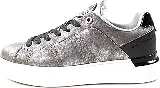 COLMAR ORIGINALS, Scarpe da Donna Casual, Suola Alta/Glitter, Modello Bradbury Punk- Grey/Silver, H-BRADB.P.067 (38)