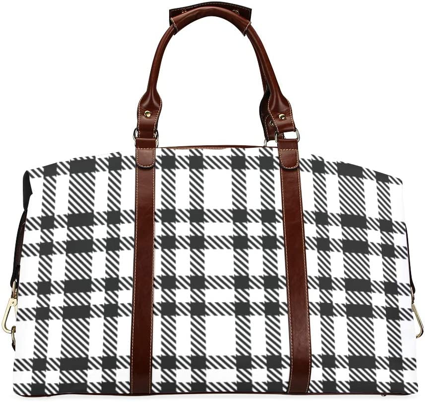 Durable Duffel Bag Blue Checkered W Oversized Max 80% OFF Over item handling ☆ Tablecloth Classic