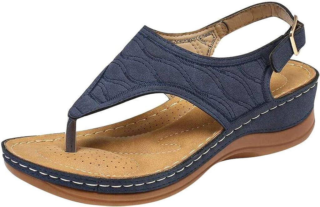 Shoes for Women Flats Comfortable Women's Ladies Girls Comfortable Ankle Hollow Flip Flops Sandals Soft Sole Shoes