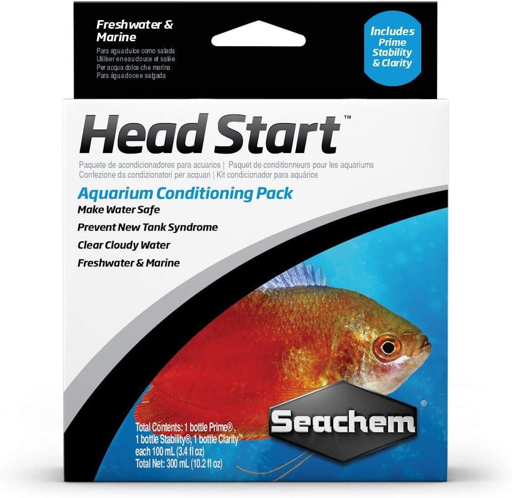 Seachem Dallas Mall Headstart Conditioning Pack Box of 3 Sales 100ml
