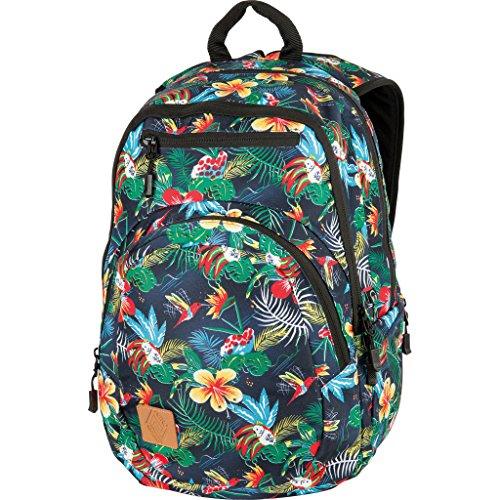 Nitro Stash Rucksack Schulrucksack Schoolbag Daypack Damenrucksack Schultasche schöne Rucksäcke Alltag Fahrradtasche, Paradise, 29L