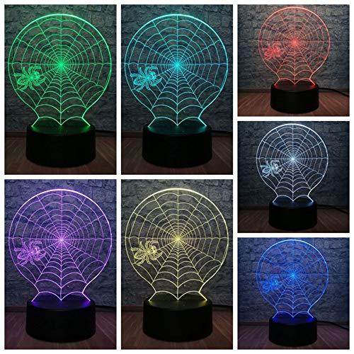 Kreative Tier Pot-Bauchige Spinne 3D Led Lampe Halloween Scary Scene 7 Farbwechsel Dekoration Tisch Nachtlicht Atmosphäre Mit Fernbedienung