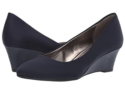 Bandolino Fayola Wedge Heel (Navy Fabric) Women