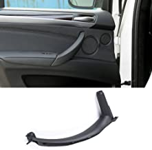 Jaronx for BMW X5 X6 Door Pull Handle, Inner Door Trim Grab Cover Left Rear Door Armrest Bracket (Fits:BMW X5 2008-2013 and BMW X6 2008-2014) (Leather Cover NOT Inculded)