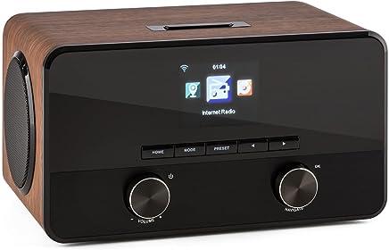 auna Connect 100 WN - radio internet - radio digtale - radio WLAN - Network player - interfaccia Bluetooth - Porta USB-MP3-2 amplificatori banda larga - impiallacciatura in legno - nocciola