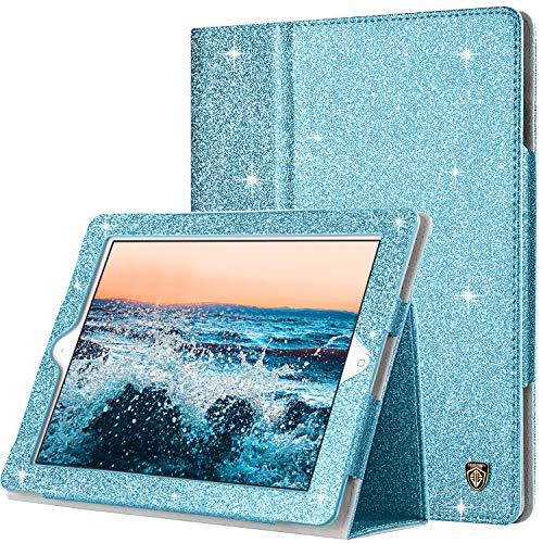 BENTOBEN iPad 2 Case, iPad 3 Case, iPad 4 Case, Glitter Sparkly Slim Lightweight Faux Leather Folio Folding Stand Smart Cover Stylus Holder Auto Wake/Sleep Protective Case for iPad 2/3/4, Blue