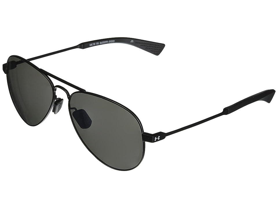 Under Armour Getaway (Satin Black/Black/Gray Mirror) Athletic Performance Sport Sunglasses