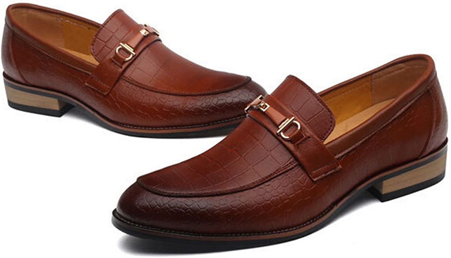 San hojas Men's Loafers Dress Classic Formal Oxfords Slip On Genuine Leather Lining Modern shoes
