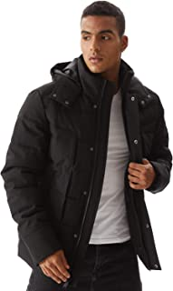Men's Down Alternative Jacket Outdoor Sports Windproof Water-Resistant Parka Expedition Mountain Coat XS-3XL