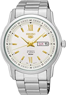 Seiko 5 Dress Watch for Men, Analog, Stainless Steel Band - SNKP15J