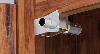 Innovala CO124-NP25 Nickel Corner Damper Soft Close Cabinet Door, 25 Pack, Metal Housing