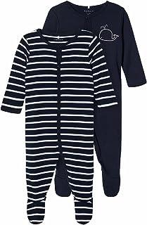 NAME IT baby-jongens pyjama NBMNIGHTSUIT 2P W/F DARK SAPPHIRE 2 NOOS