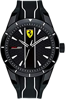 Ferrari Men's Black Dial Silicone Band Watch - 830495, Analog Display