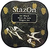 Tsukineko StazOn Midi Ink Pad-Jet Black