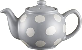 Price & Kensington Silver Spot Fine Stoneware Grey 2 Cup Teapot, Ceramic, Multicoloured, 19 x 12 x 12 cm