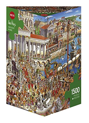 Heye 29791–Ancient Rome triangular, Hugo Prades, incluye póster, Puzzle de 1500piezas