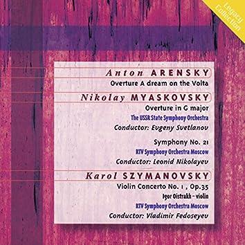 Arensky: Dream on the Volga Overture - Myaskovsky: Overture in G Major - Symphony No. 21 - Szmanovski: Violin Concerto No. 1