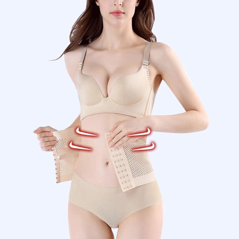 EseFGJK Womens Tummy Control Shapewear Corset Breathable Mesh Body Shaper One-Piece Postpartum Obesity Adjustable Bodysuit