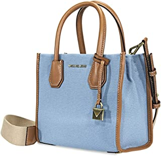 Michael Kors Mercer Canvas Crossbody (Powder Blue)