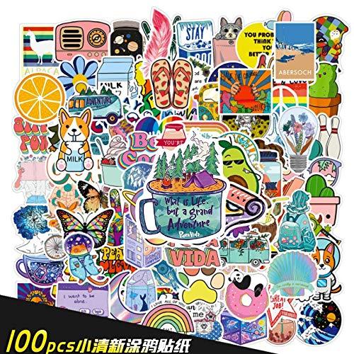 DSSJ 100 Cartoon Cartoon Piccoli adesivi freschi Della Serie Graffiti Adesivi personalizzati per Notebook Valigia con conto manuale