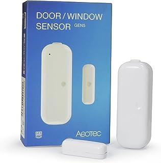 Aeotec Door Window Sensor Gen5, Z-Wave Plus Eanbled Security Sensor, Zwave Door Sensor Works with Zwave Hub SmartThings, V...