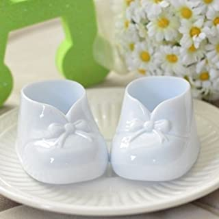 Dorigan home series 6 White Baby Booties Favors Baby Shower Party Decoration Gender Neutral Birthday