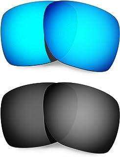 Hkuco Plus Mens Replacement Lenses For Oakley Deviation Sunglasses Blue/Black Polarized