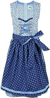 Isar-Trachten Jugend Dirndl Melania 44819 - Blau - Wunderschönes Mädchen Trachtenkleid mit Schürze - Oktoberfest Kirchweih Sonntagsausflug