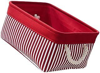 Angoily Bacs de Rangement en Toile Tissu Panier De Rangement Divers Bacs Boîte De Rangement De Bureau Case Cabinet pour Bé...