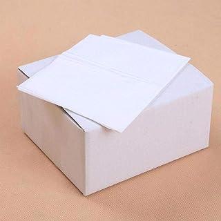 DIF Delantal de plástico desechable de plástico Blanco Transparente Espesar Cocina Caliente a Prueba de Aceite Sin Mangas Olla Delantal de Cocina de Aguas residuales, 100 Piezas