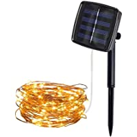 Monoprice Solar Powered 32 Ft Outdoor String Light