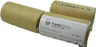 Högprestanda Ni-MH-batteri 3,6 V/3,7 V 3000 mAh för Gardena gräsklippare, gräskantar, trädgårdssax, gräsklippare Accu 3 Ac...