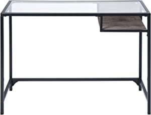 Aingoo Konsolentisch,Modern Design Flurtisch, Industrial Stabiler Konsole Tish with Glass desktop and drawer ,Konsole für den Eingang, Korridor,Wohnzimmer,Schlafzimmer, Bettzimmer, Schminktisch