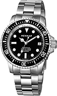 NEYMAR 40 mm Men's Swiss 2824 Automatic 1000 m Stainless Steel Diver Watch