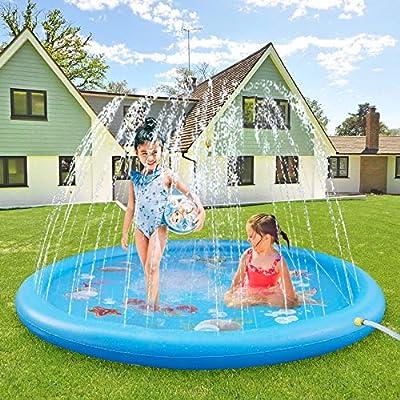 ASIILOVI Splash Pad, 68'' Sprinkler for...