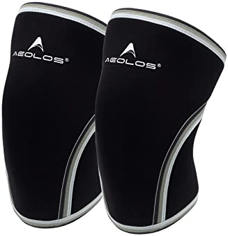 Knee Sleeves (1 Pair),7mm Compression Knee Braces for Heavy-Lifting,Squats,Gym and Other Sports (Medium, Black)