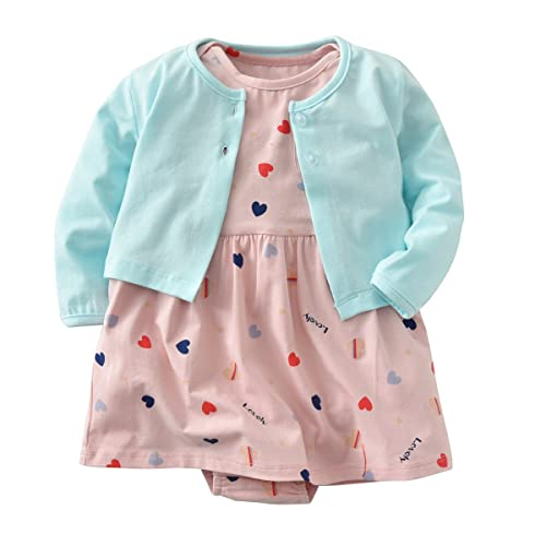 d76155c359a Baby Girl Long Sleeve Floral Romper Dress Skirt Casual Toddler Baby Girl  Clothes Set Outfit