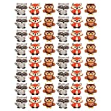 Woodland Animal Friends Cupcake Rings by Bakery Supplies (48-Pack)