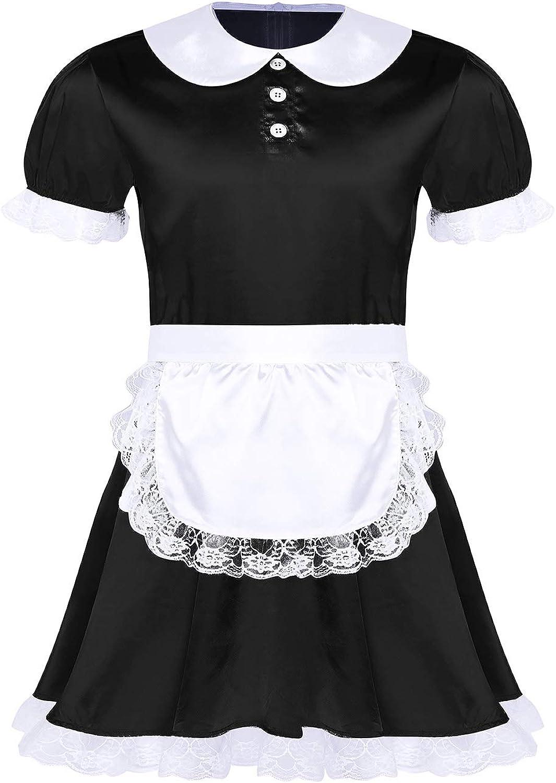 Choomomo Mens Sissy Girl Costume Large discharge sale Crossdrssi Satin Super special price Dress Lingerie