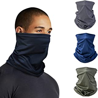 Microfiber Neck Gaiter Headband Tube Bandana Biker Elastic Scarf Sunscreen Balaclava Wicking Face Mask Dust Sun UV Protect...