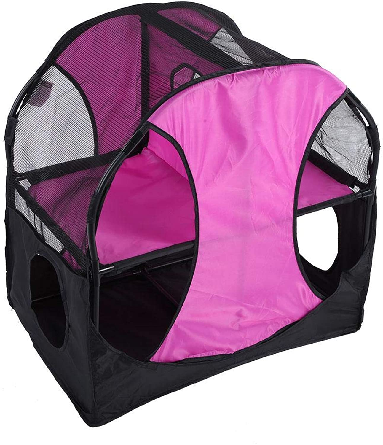Cat Play Tent, Luxury Double Layer Cat Climbing Frame Jumping Platform DIY Oxford Cat Tunnel Jumping House