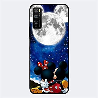 ZOOT Protective Printed Case Cover For Huawei Enjoy 20 Pro Mickey Moon,Thermoplastic Polyurethane Slim fit Clear Protectio...