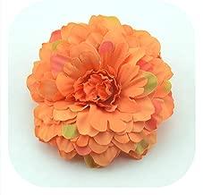 Memoirs- 5Pcs 7Cm Chrysanthemum Artificial Silk Flower Head for Home Wedding Party Decoration Wreath Scrapbooking Fake Sunflower Flowers,Orange